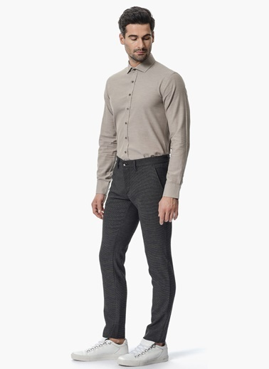 NetWork Slim Fit Gömlek Bej